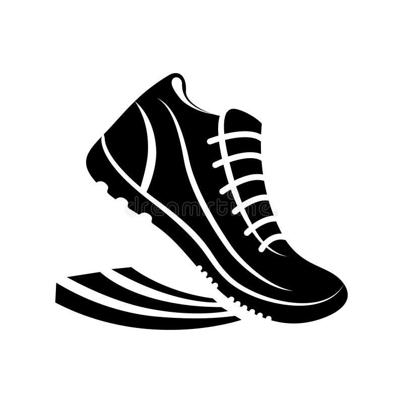 Buty biega piktogram ilustracji