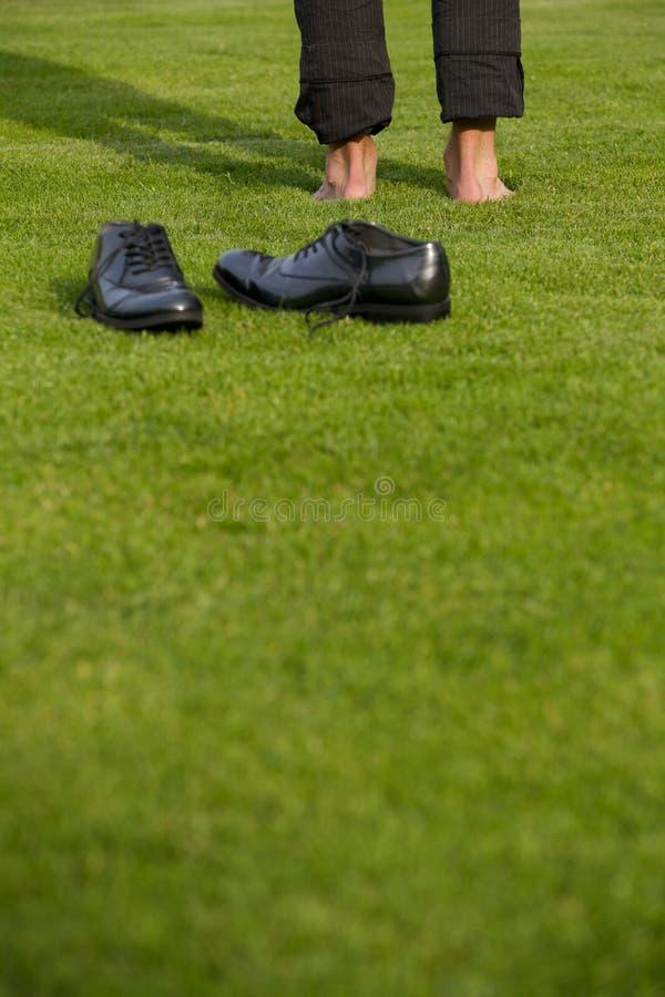 Buty i niska sekcja mężczyzna obraz royalty free