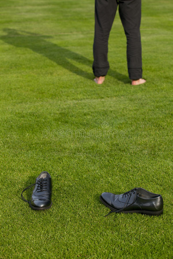 Buty i niska sekcja mężczyzna obrazy royalty free
