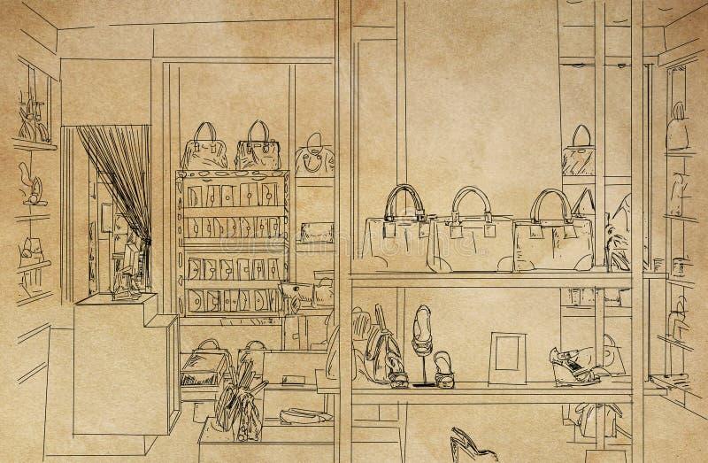 Buty i torebki royalty ilustracja