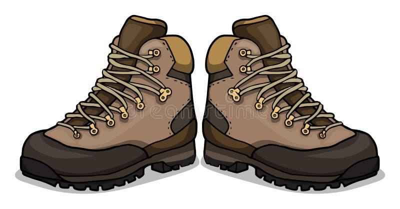 buty na pieszą wycieczkę royalty ilustracja
