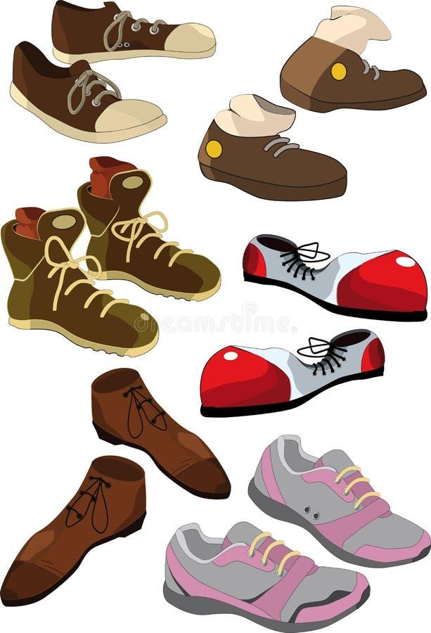 buty ustawiający ilustracja wektor