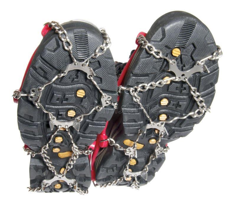 buty zamrażają butów kolce zdjęcie royalty free