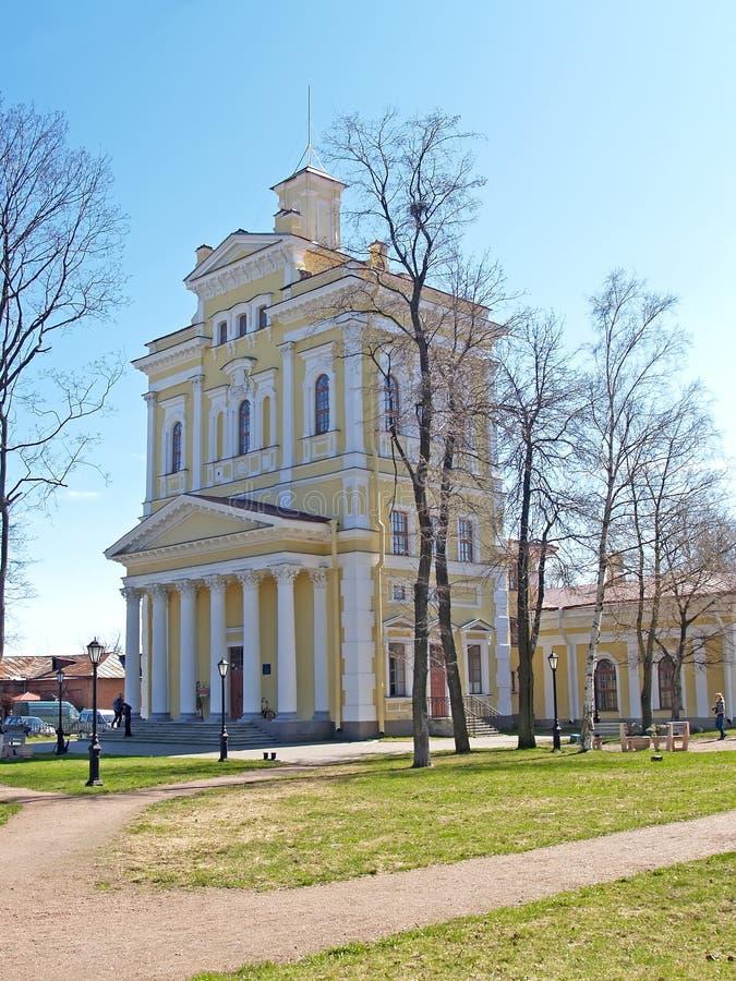 buurt van St Petersburg Museum van geschiedenis van de het hijstoestelmotor van het stads vroegere water stock afbeeldingen