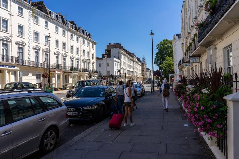 Buurtdistrict van Pimlico in Londen, het UK stock afbeeldingen
