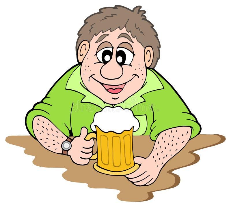 buveur de bière illustration de vecteur