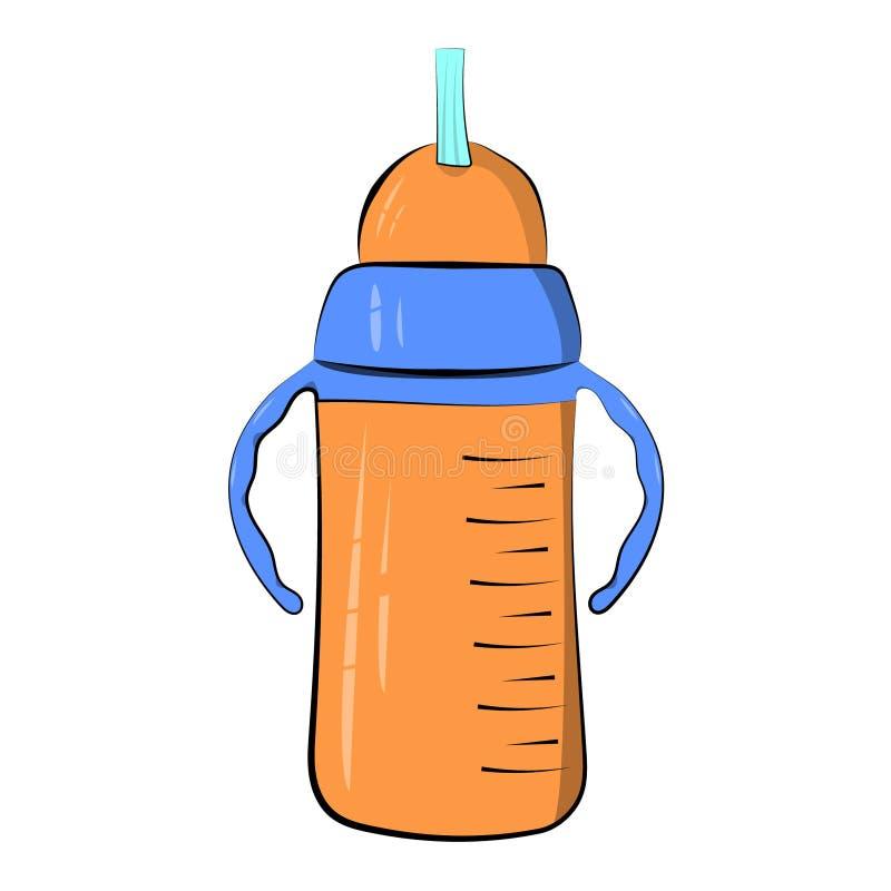 Buveur de tasse pour un enfant D'isolement sur un fond blanc Illustration de vecteur graphisme illustration stock