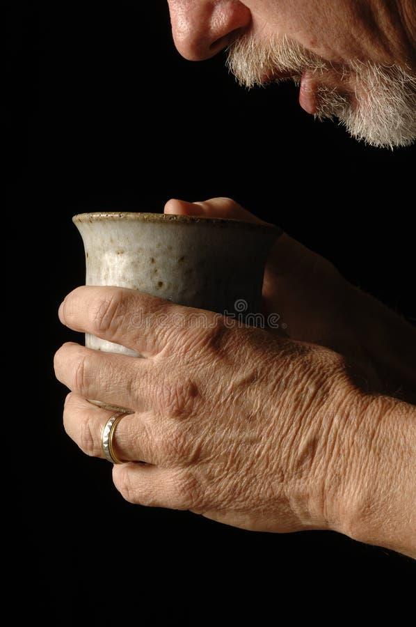 Buveur de thé images libres de droits