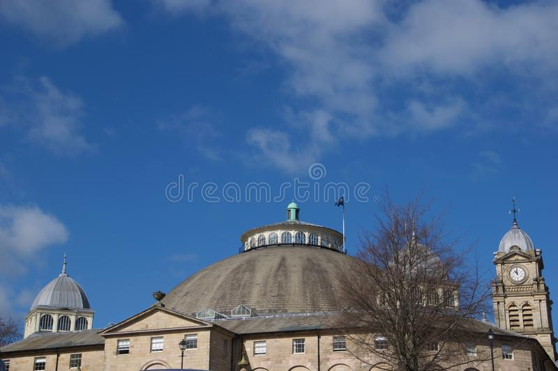 Buxton Dome and architecture. Buxton Dome Derbyshire England united kingdom royalty free stock images