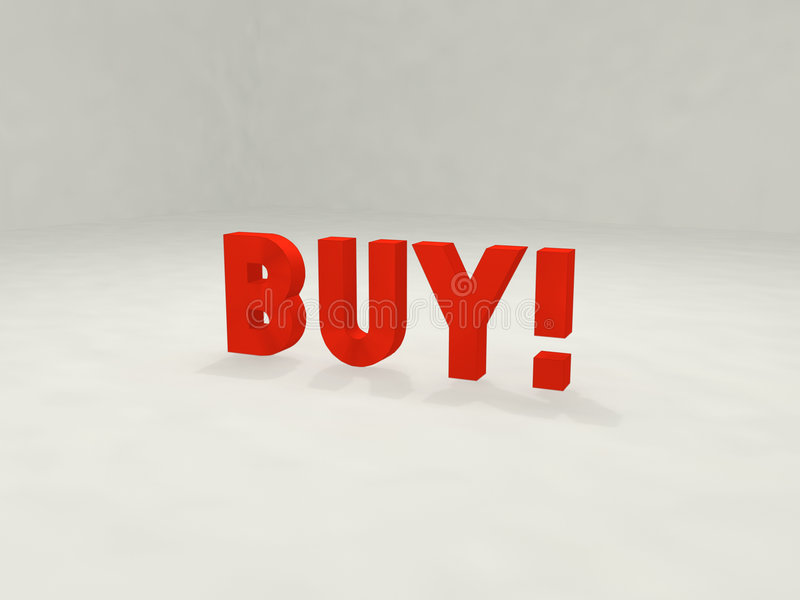 Buy 3d! illustrazione vettoriale