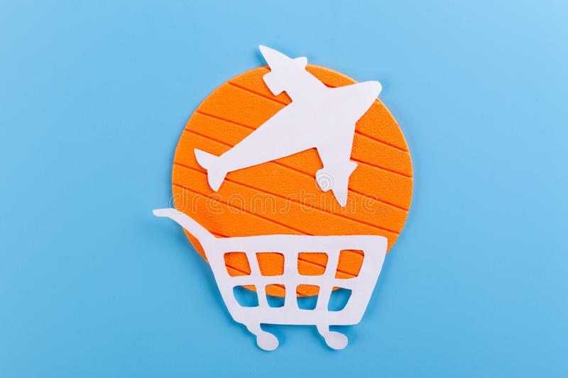 buy an airplane concept royalty free stock photo