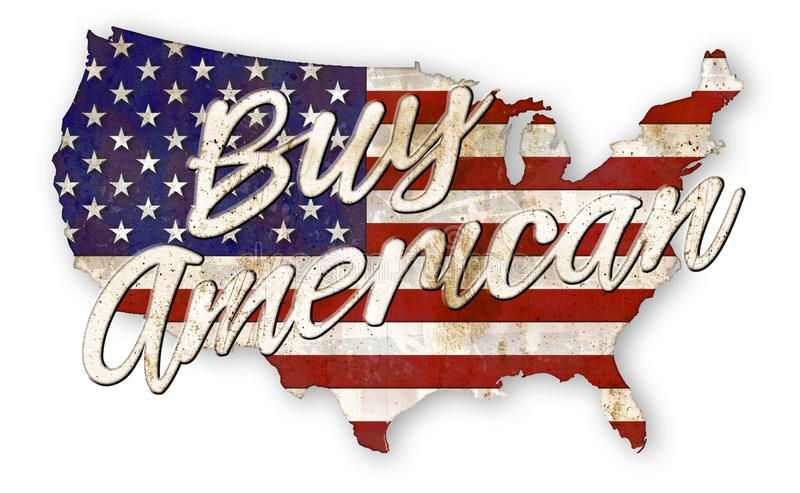 Buy American Vintage Sign royalty free illustration