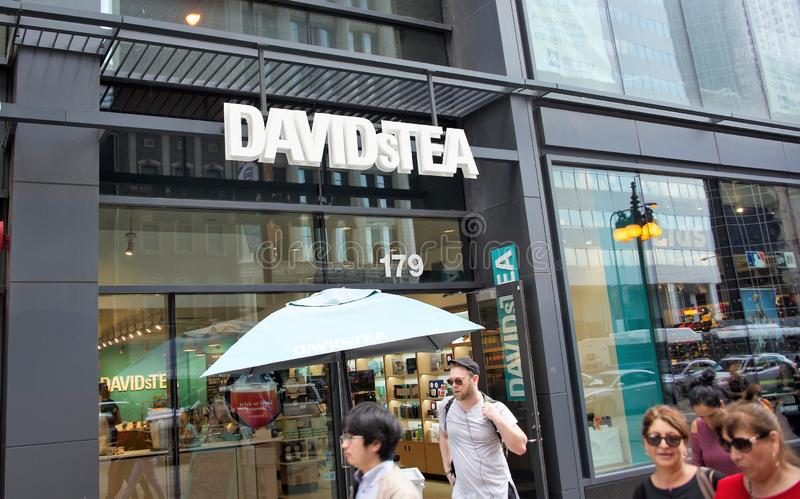 David`s Tea, Downtown Chicago, Illinois stock images