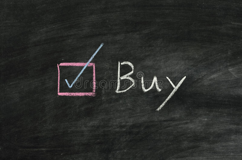 Buy and button stock photography