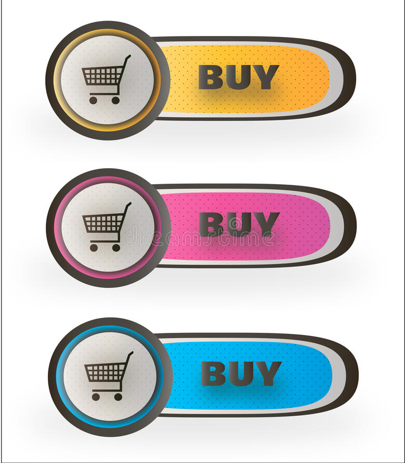 BUY buttons royalty free stock photo
