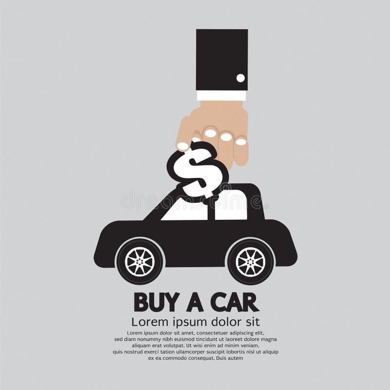 Buy A Car Concept. Vector Illustration stock illustration