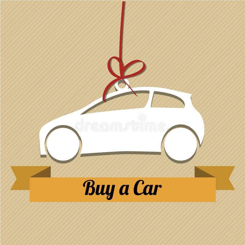 Buy a car stock illustration