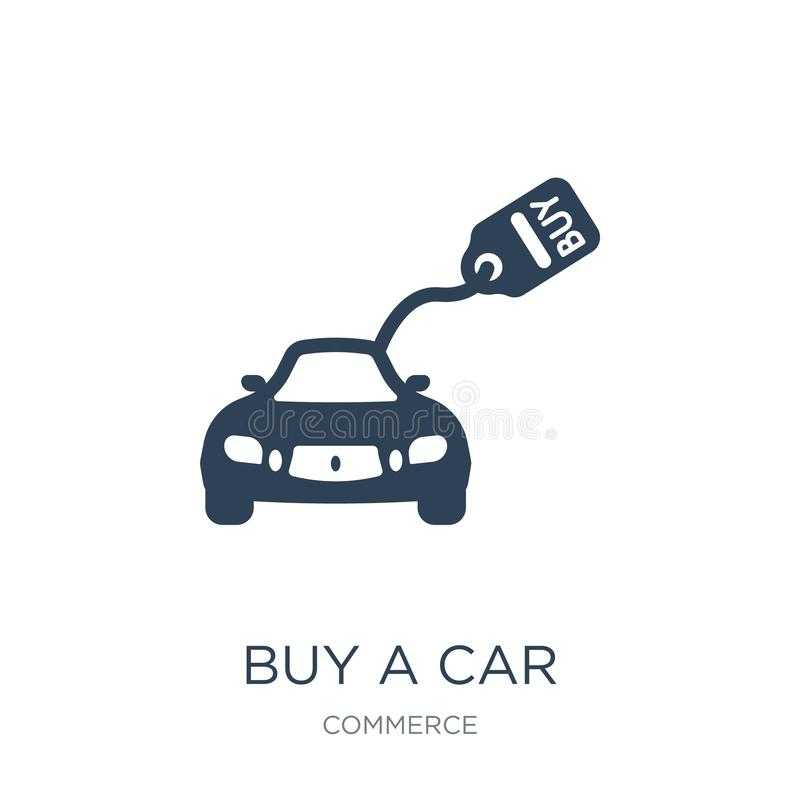buy a car icon in trendy design style. buy a car icon isolated on white background. buy a car vector icon simple and modern flat vector illustration