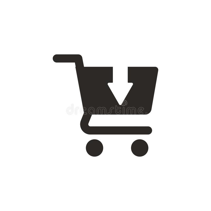 Buy, cart, shopping vector icon. Simple element illustration from UI concept. Buy, cart, shopping vector icon. Finance concept. Vector illustration. on white vector illustration