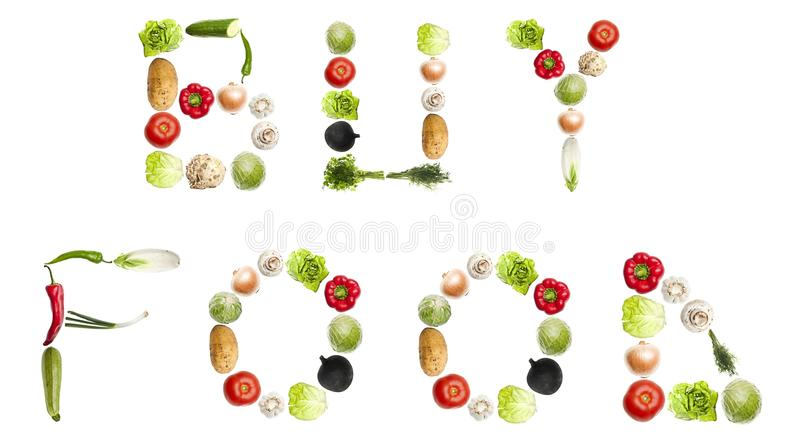 Buy Food Words Royalty Free Stock Photography