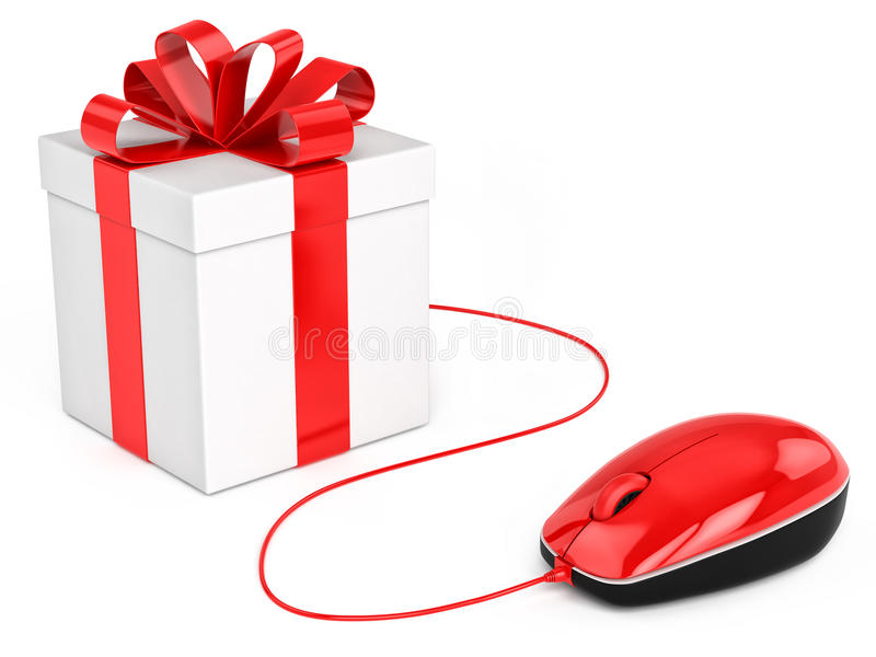 Buy gift online shopping. Concept royalty free illustration