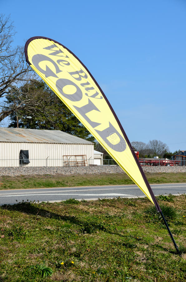 Download We buy gold sign stock image. Image of outside, rural - 23169073
