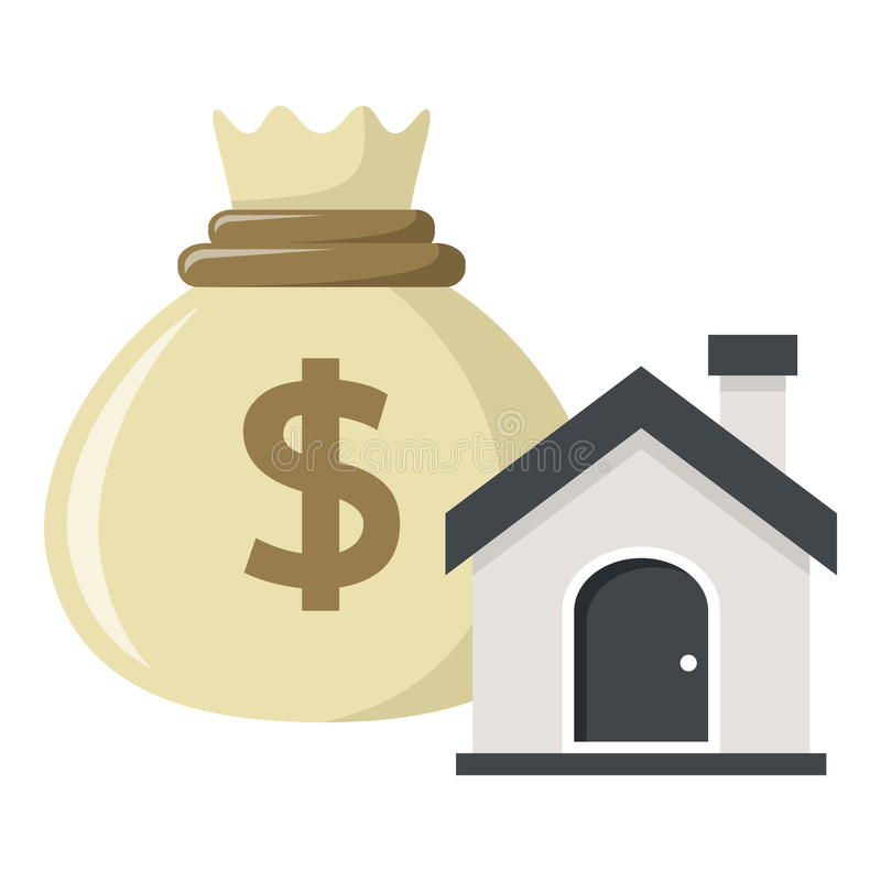 Buy a House, Investment Concept on White royalty free illustration