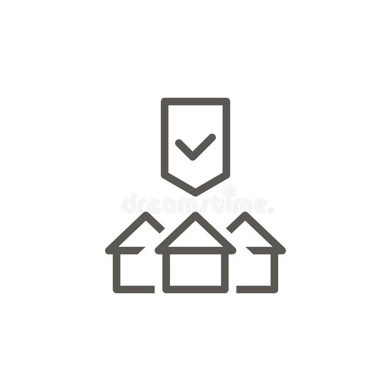 Buy, house, property, protection vector icon. Simple element illustration from UI concept. Buy, house, property, protection vector. Icon. Real estate concept stock illustration