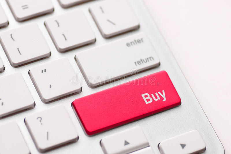 Buy key in place of enter key stock photography
