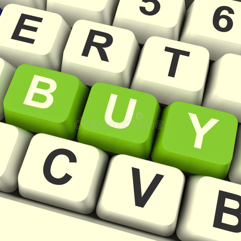 Download Buy Keys As Symbol For Commerce And Purchasing Stock Illustration - Image: 23427816