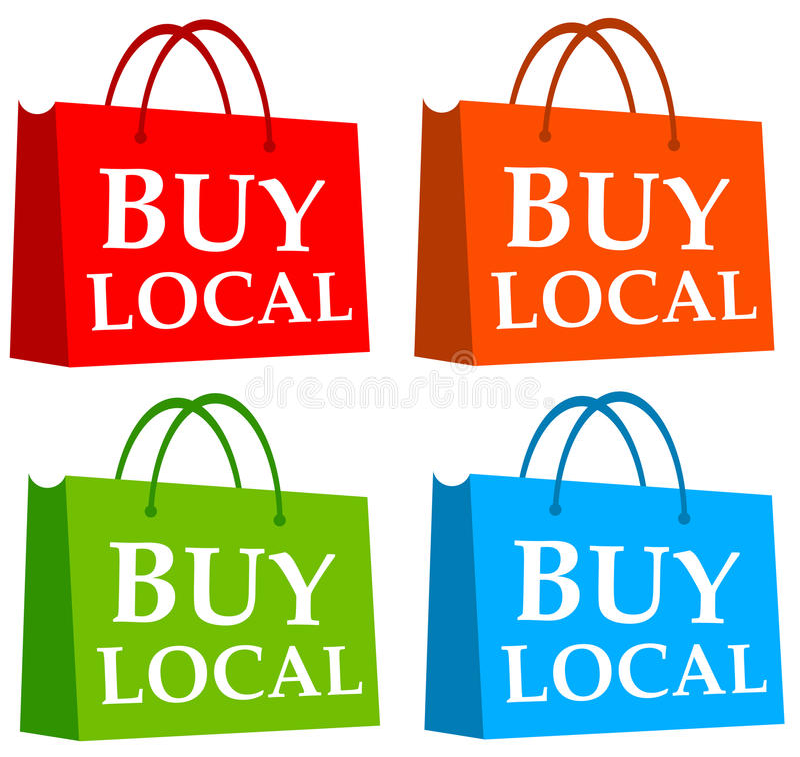 Buy local stock illustration