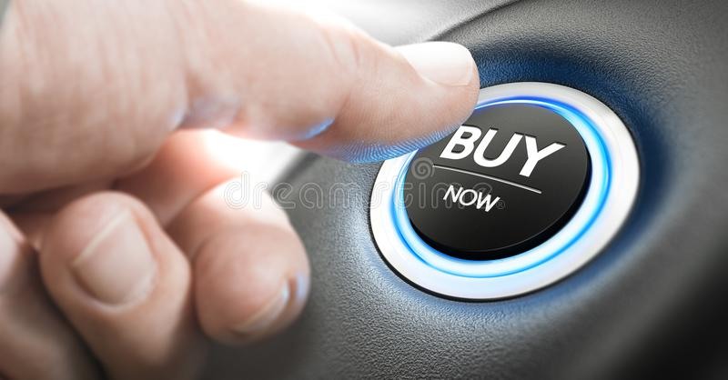 Buy a New Car Now royalty free stock photos