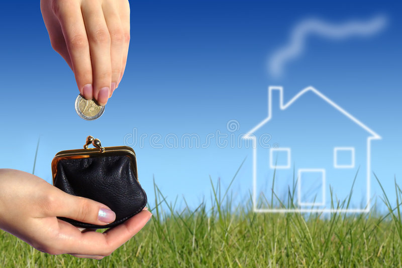 Buy new house concept royalty free stock photos