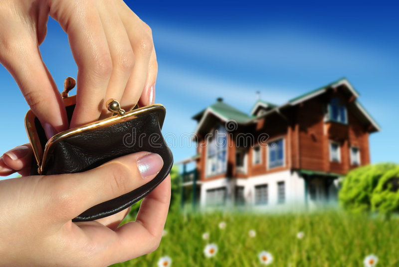 Buy new house concept stock photography