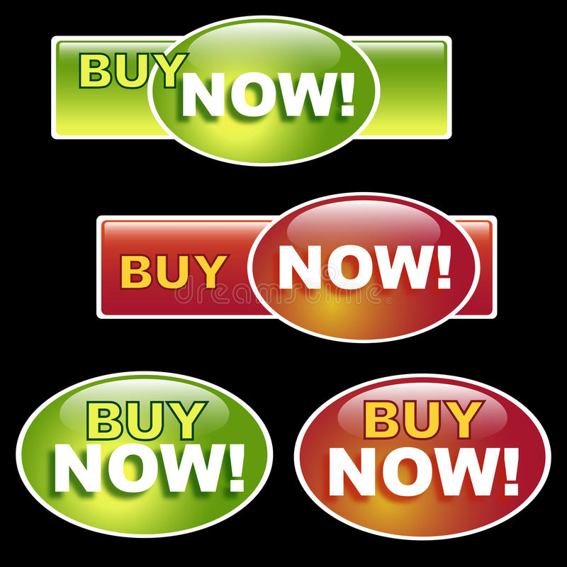 Buy now button royalty free illustration