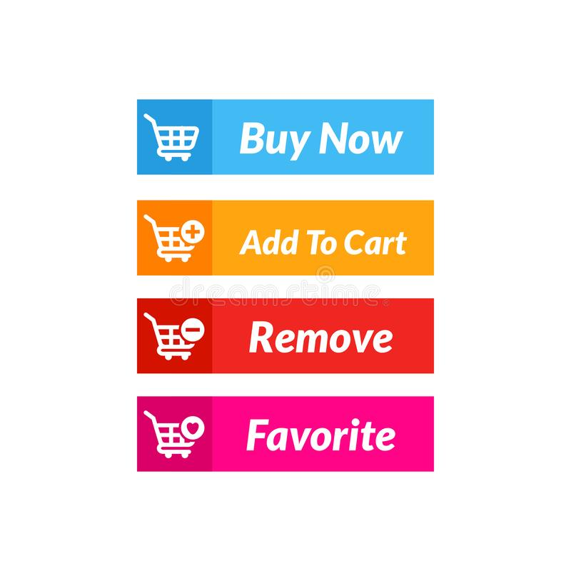 Buy now button vector design. online shop icon material design. Action, add, apps, banner, basket, business, cart, checkout, click, computer, concept, digital royalty free illustration
