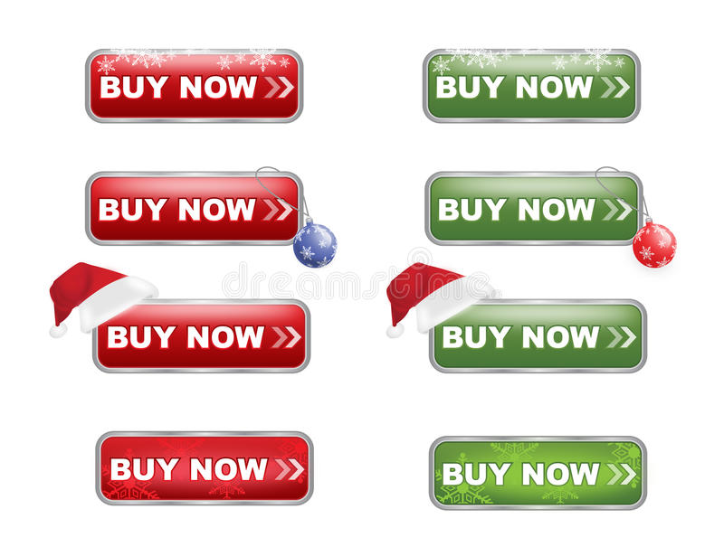 Download Buy Now Buttons Christmas Edition Stock Vector - Image: 16808593
