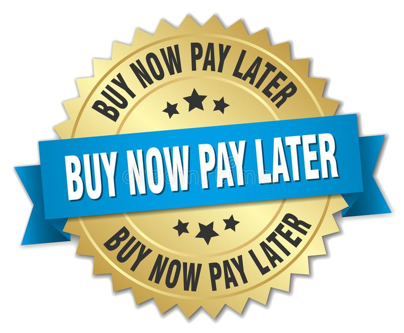 buy now pay later stock illustration