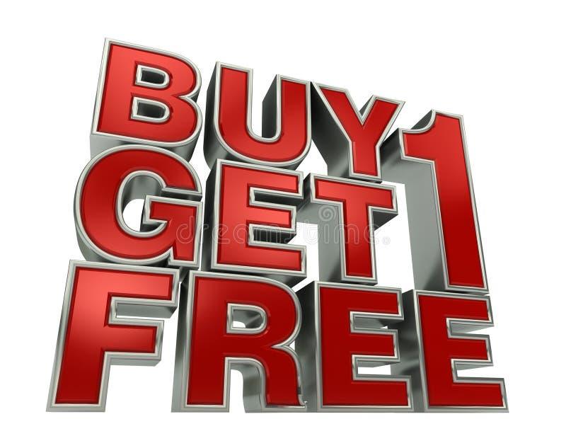 Buy1 obtiennent 1 GRATUIT photos stock