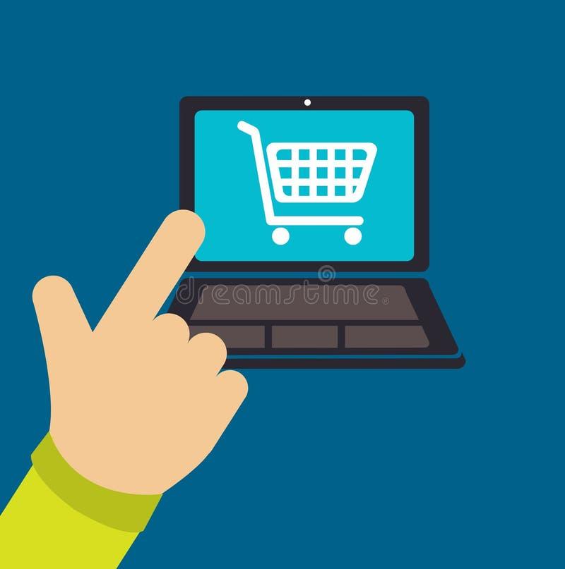 Buy online stock illustration