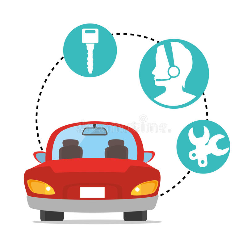 Buy or rent a car business. Illustration graphic design stock illustration