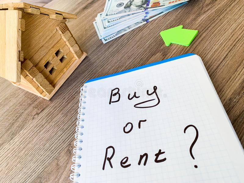 Buy or rent house. Real estate concept.  stock images
