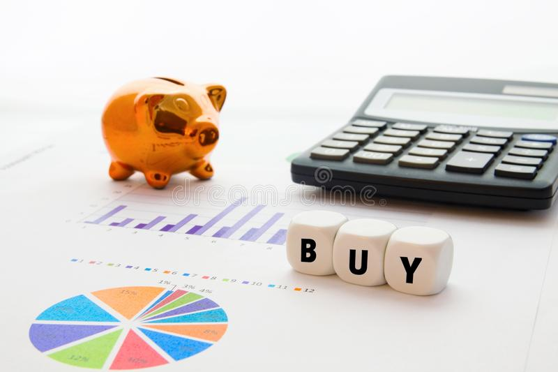 Download BUY word on dices stock image. Image of company, profit - 28727285