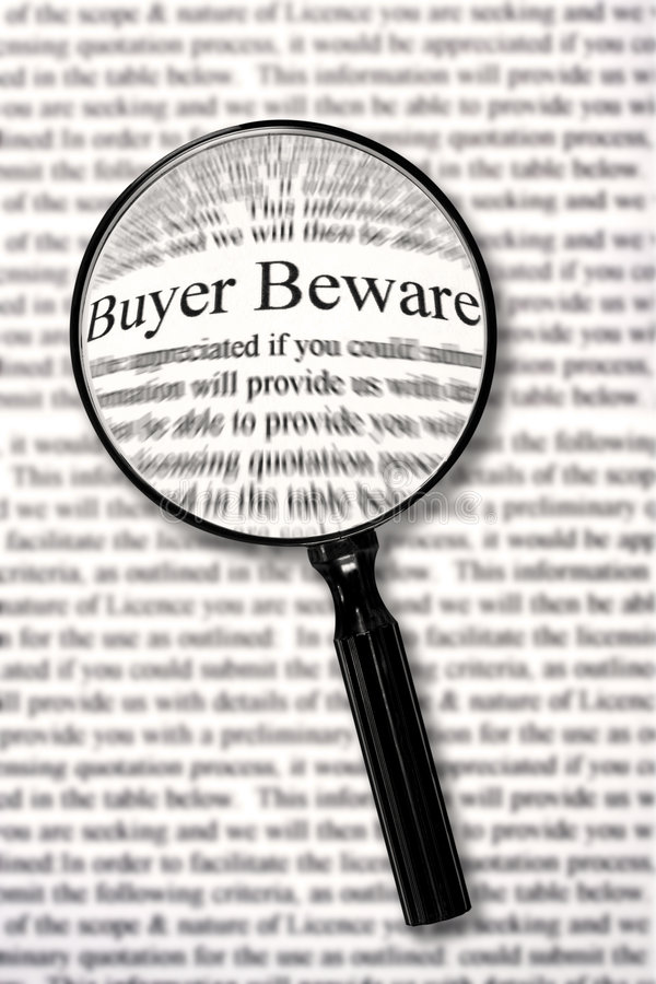Free Buyer Beware Royalty Free Stock Image - 4734806