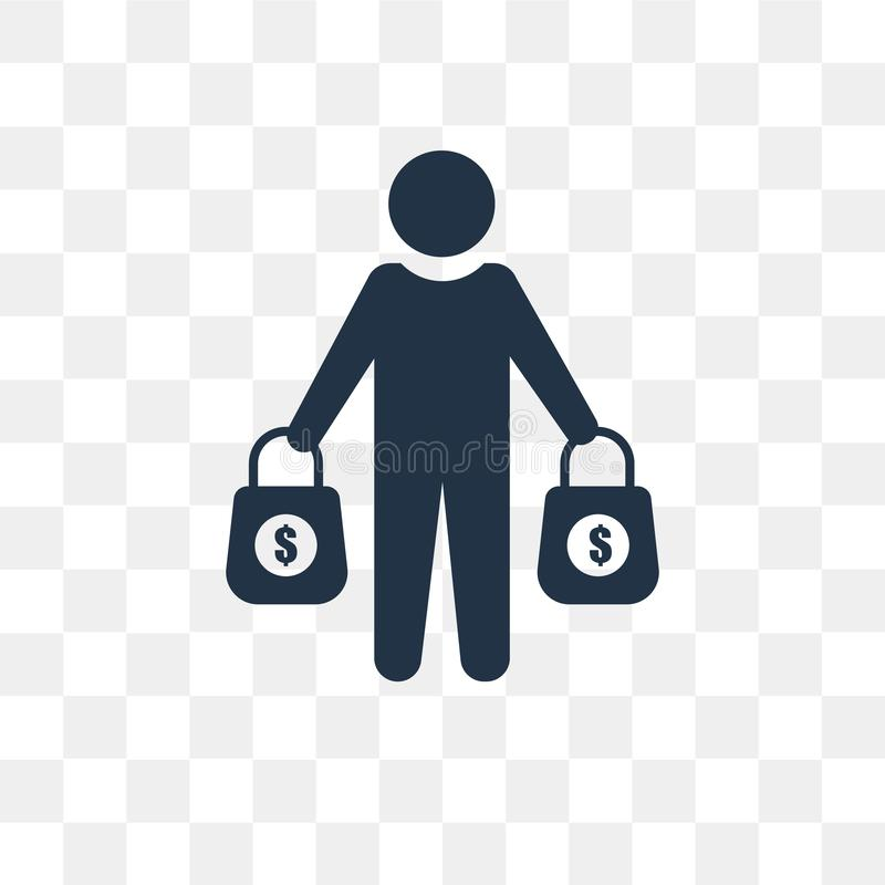 Buyer vector icon isolated on transparent background, Buyer tra vector illustration