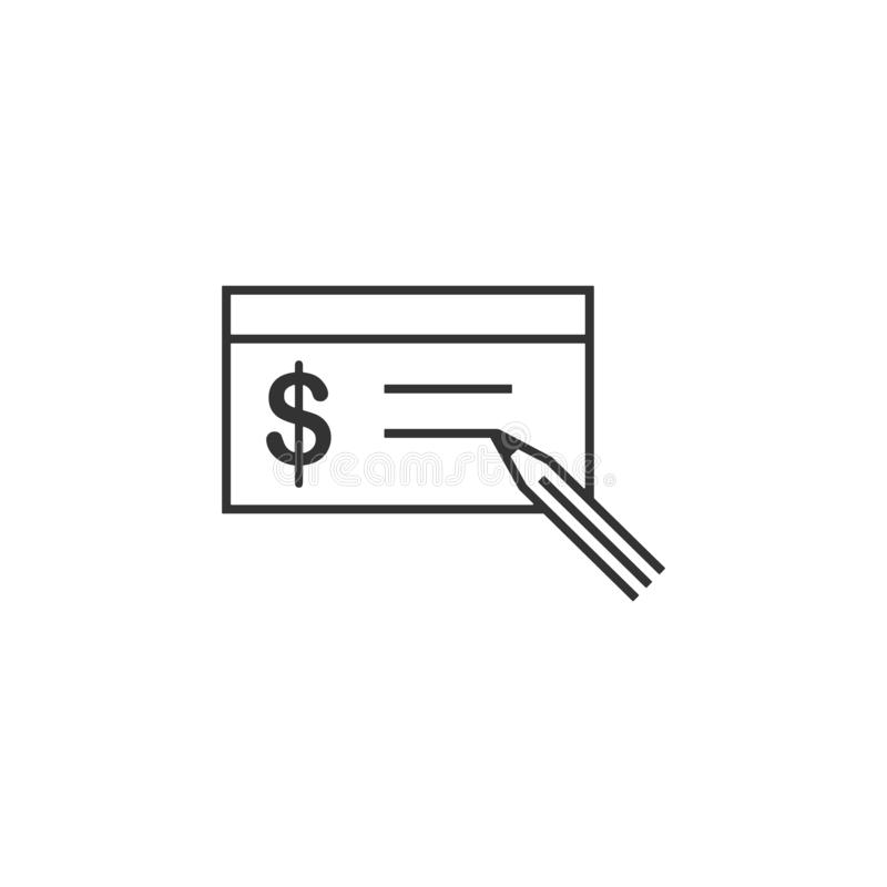 Buying, check line icon. Simple, modern flat vector illustration for mobile app, website or desktop app vector illustration
