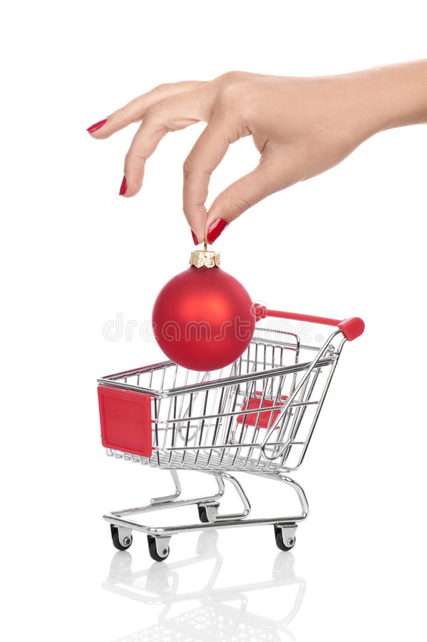 Free Buying Christmas Balls Royalty Free Stock Photos - 22253498