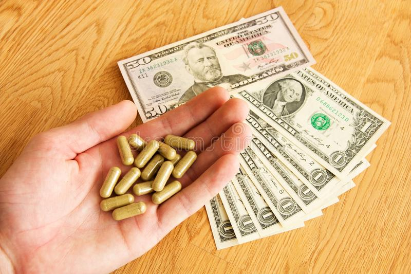 Buying drugs stock photo