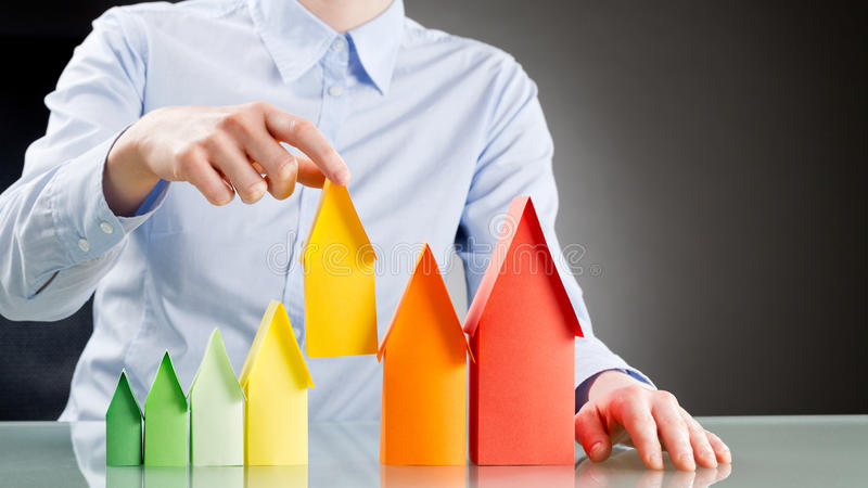 Buying an Energy Efficient House stock images
