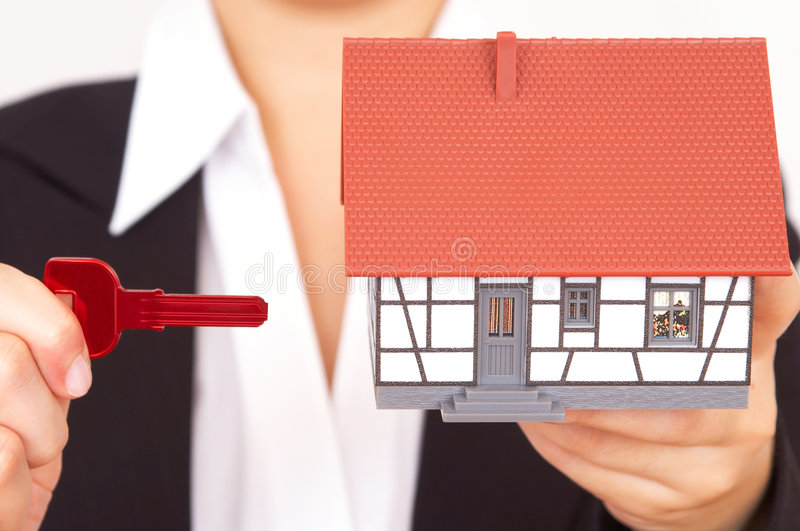 Buying a house stock photography